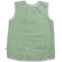 Tablier vert à pois en coton bio enduit (3-6 ans)