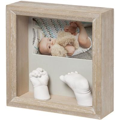 Cadre photo empreinte 3D My Baby Sculpture Bois cérusé