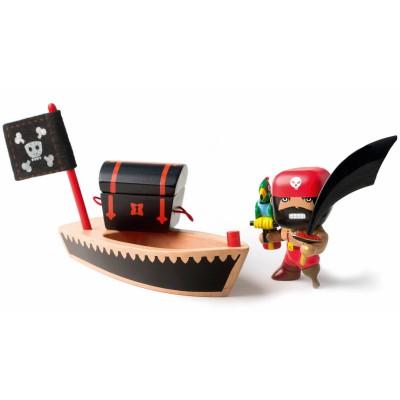 Figurine pirate El loco  par Djeco