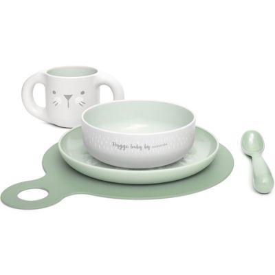 Coffret repas Hygge Baby lapin vert (5 pièces)  par Suavinex