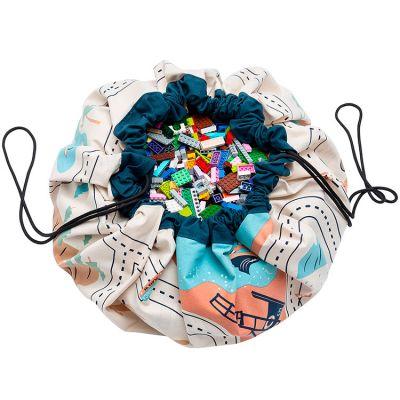 Sac à jouets 2 en 1 LA roadmap Play&Go