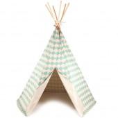 Tente tipi Arizona Ecaille vert d'eau - Nobodinoz