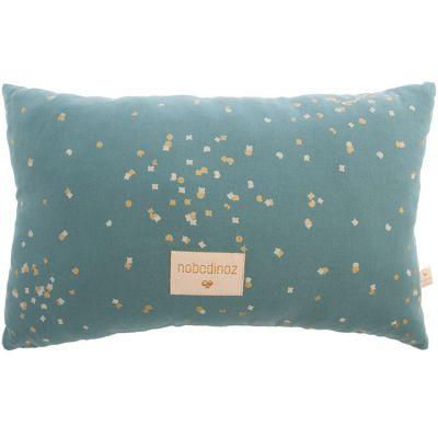 Coussin Laurel Gold Confetti vert (22 x 35 cm)  par Nobodinoz