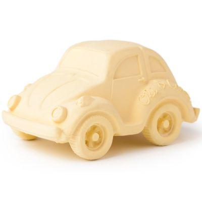 Petite voiture Coccinelle latex d'hévéa vanille   par Oli & Carol