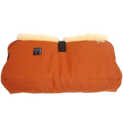 Protège mains en peau d'agneau Big double orange Kaiser