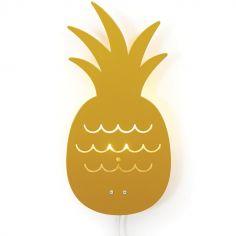 Applique murale ananas jaune