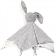 Doudou plat Welcome to The World lapin gris (28 x 30 cm)  par Mamas and Papas