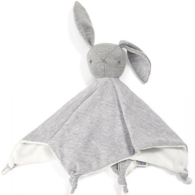 Doudou plat Welcome to The World lapin gris (28 x 30 cm) Mamas and Papas