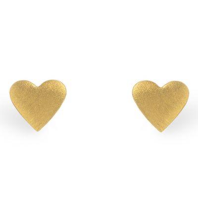 Boucles d'oreilles Full coeur (vermeil doré)  par Coquine