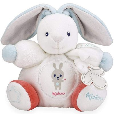 Doudou attache sucette Imagine Patapouf Lapinou crème (19 cm)  par Kaloo