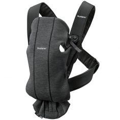Porte bébé Mini Jersey 3D gris charbon