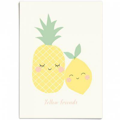 Affiche A3 Yellow friends  par Zü