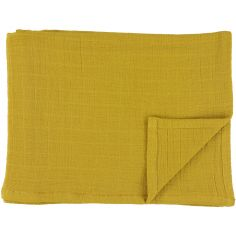 Lot de 2 langes en mousseline de coton Bliss Mustard (110 x 110 cm)
