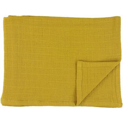 Lot de 2 langes en mousseline de coton Bliss Mustard (110 x 110 cm)  par Trixie
