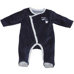 Pyjama chaud Mister Bouh bleu marine (3 mois)