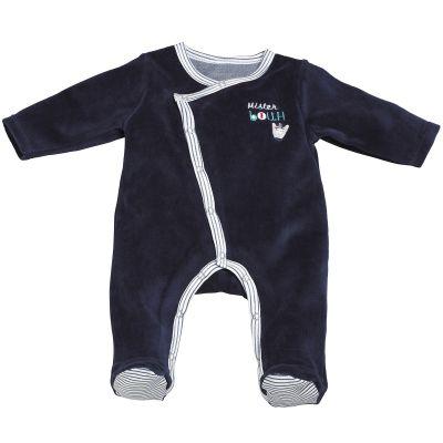 Pyjama chaud Mister Bouh bleu marine (3 mois)  par Sauthon