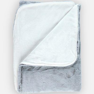 Couverture longs poils Mix & Match grise (100 x 140 cm)  par Noukie's