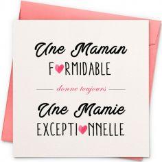Carte Mamie exceptionnelle (13 x 13 cm)