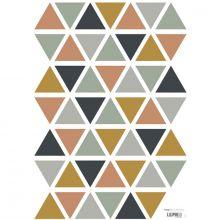 Planche de stickers A3 de triangles gris camel bleu foncé  par Lilipinso