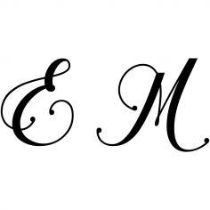Gravure 2 initiales sur orfèvrerie (Typo Chalisa Octavia)