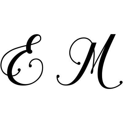 Gravure 2 initiales sur orfèvrerie (Typo Chalisa Octavia)  par Gravure magique