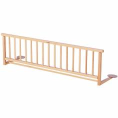 Barrière de lit en bois massif vernis naturel