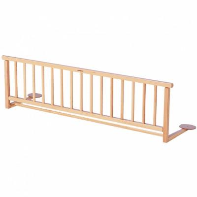 barrire de lit en bois massif vernis naturel combelle. Black Bedroom Furniture Sets. Home Design Ideas