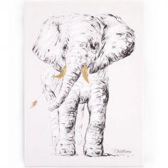 Tableau éléphant (30 x 40 cm)
