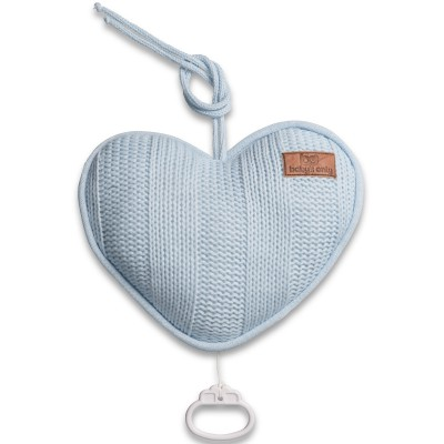 Coussin musical coeur Robust Mix bleu ciel (26 cm) Baby's Only