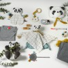 Doudou étiquettes Panda  par Kikadu