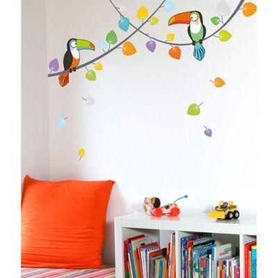 Stickers muraux Les toucans  par Série-Golo