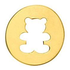 Pendentif rond Ourson ajouré (or jaune 750°)