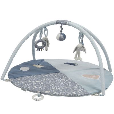 Tapis d'éveil avec arches lapin rond Adventure blue (86 x 44 cm)  par Little Dutch