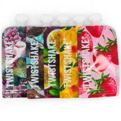 Lot de 5 gourdes réutilisable Squeeze bag fruit (220 ml)