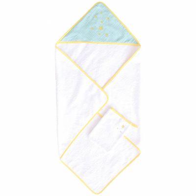 Cape de bain + gant Demi Lune (75 x 75 cm)  par Domiva