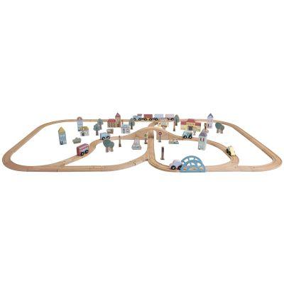 Grand circuit en bois Ville (145 x 85 cm)  par Little Dutch