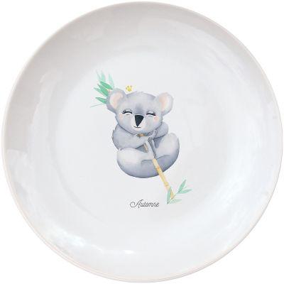 Assiette en porcelaine Koala (personnalisable)  par Gaëlle Duval