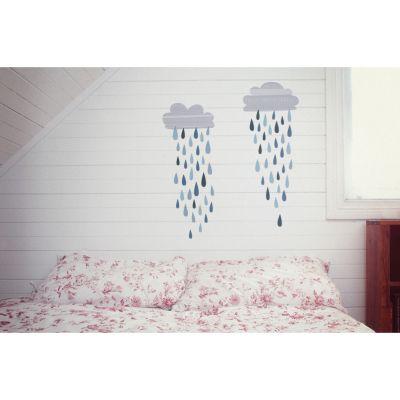 Sticker nuage de pluie Rain clouds  par Love Maé