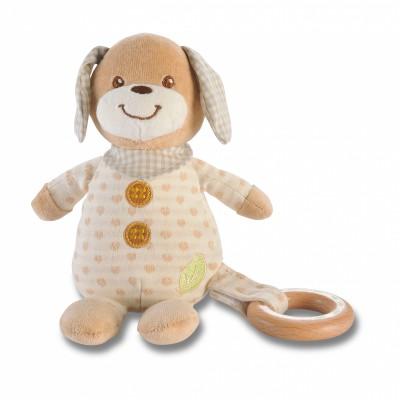 Peluche chien avec anneau bois (17 cm) EverEarth