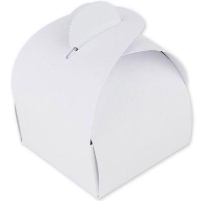 Lot de 10 boîtes à dragées arrondies blanches  par Arty Fêtes Factory