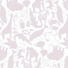 Papier peint intissé Animaux Lilas de Zina Larichi (10 m)