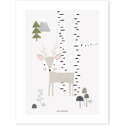 Affiche In the woods faon (30 x 40 cm)  par Lilipinso