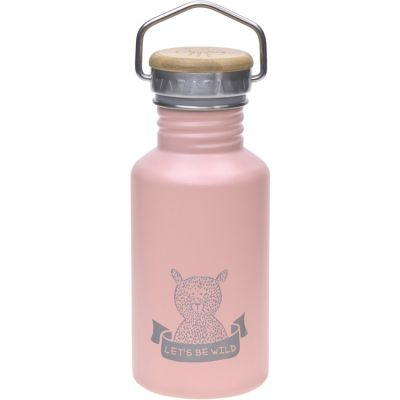 Gourde en inox rose ours Adventure (500 ml)  par Lässig