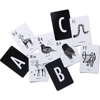 Cartes imagier pour bébé en anglais Alphabet animaux  par Wee Gallery