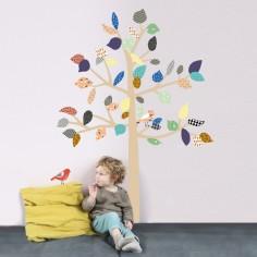 Petit sticker mural Big Tree arbre à motifs
