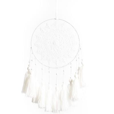 Attrape rêves pompons blanc  par Arty Fêtes Factory