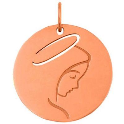 Médaille Vierge de profil (or rose 18 carats)  par Maison La Couronne
