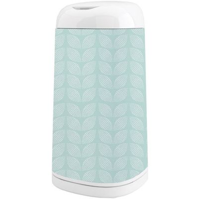 Housse décorative poubelle Dress Up Feuilles Mint Bleue  par Angelcare