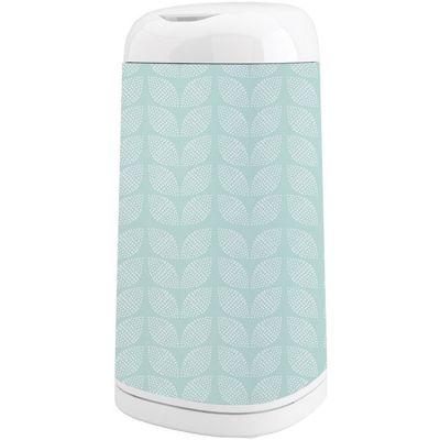 Housse décorative poubelle Dress Up Feuilles Mint Bleue  par Angelcare