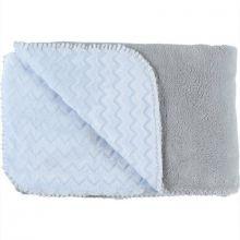Couverture bicolore Groloudoux Mix & Match bleu clair et grise (100 x 140 cm)  par Noukie's